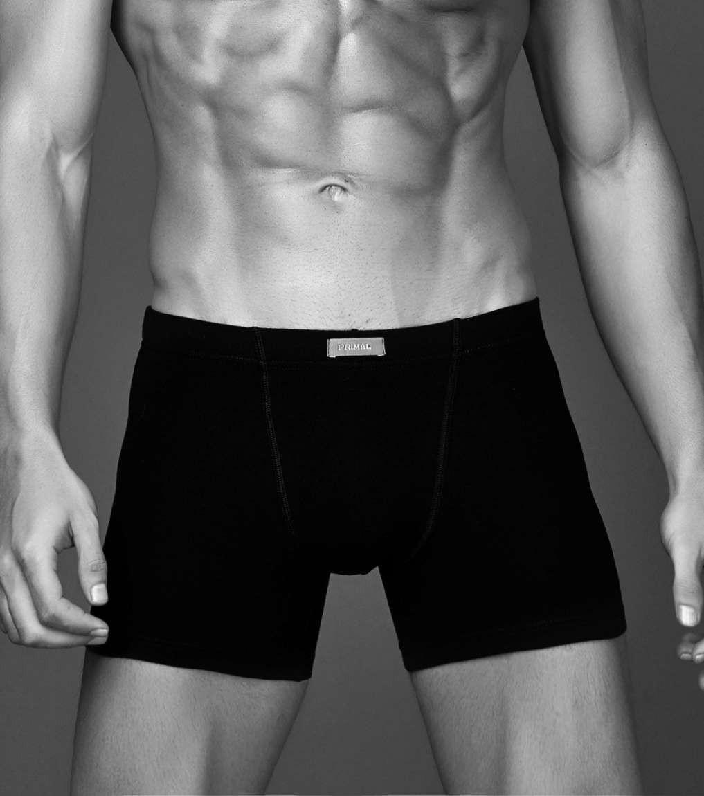 3 Boxer uomo Coveri in cotone con elastico esterno e gamba allungata EB1000 L