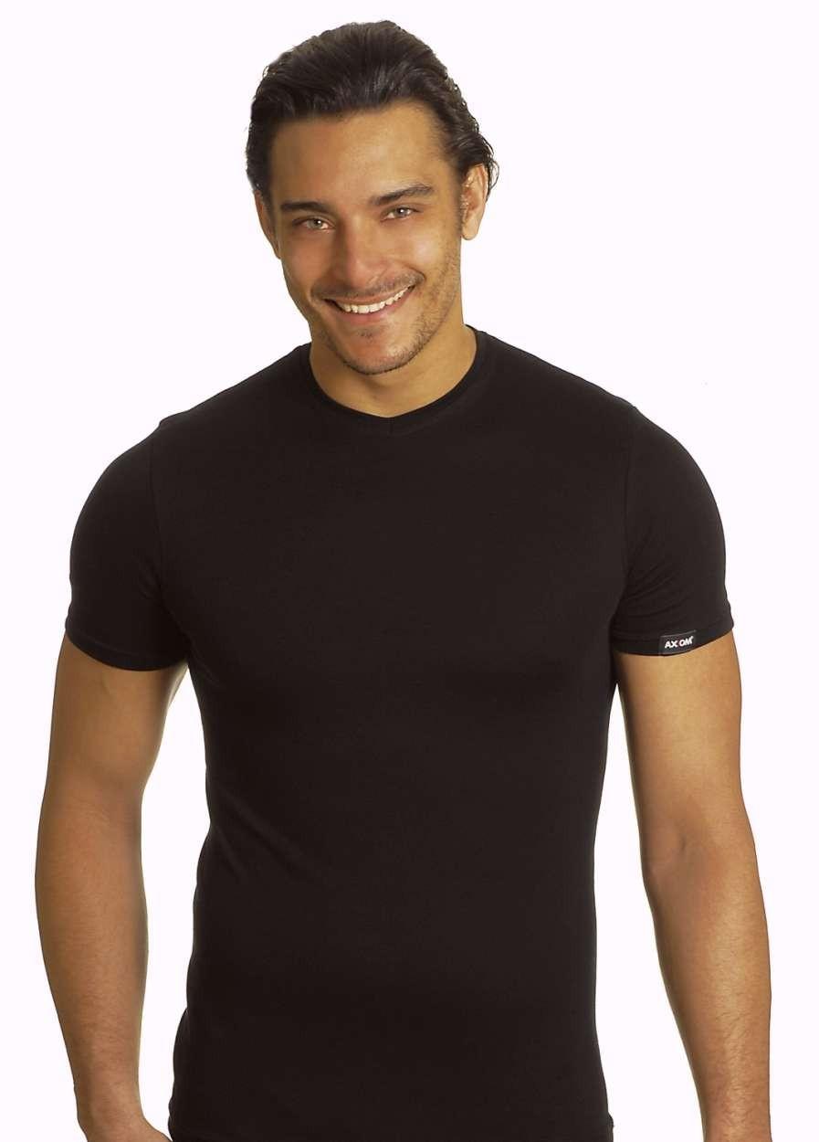3 T-shirt uomo Axiom manica corta con scollo V in fine filo di scozia art 6604