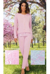Viscose woman opened pajamas SieLei Dalia DA14