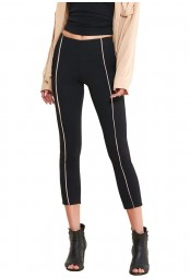 Leggings with profiles Rosso Porpora Luxury LR321