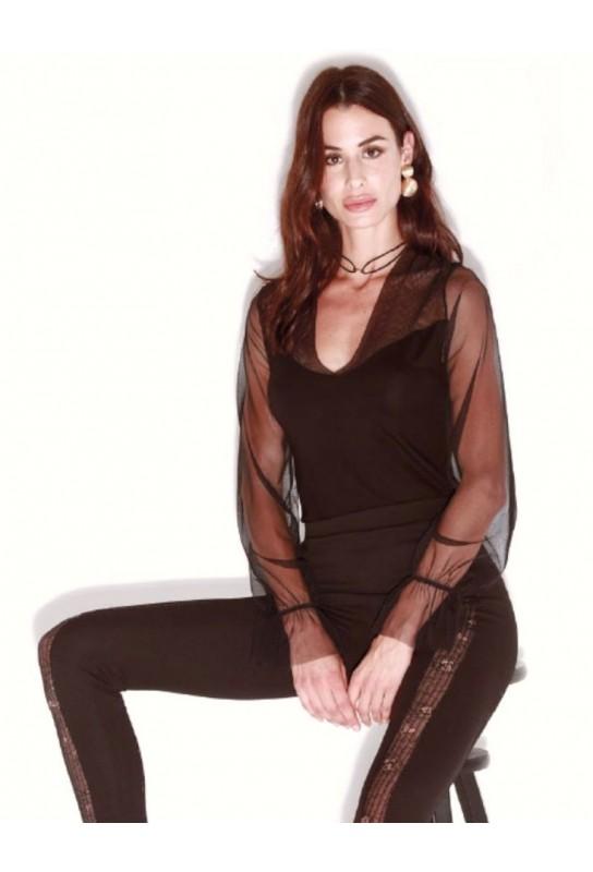 Women's under jacket shirt Rosso Porpora Luxury LE280