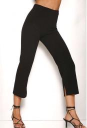 Leggings donna con spacco Rosso Porpora LR341