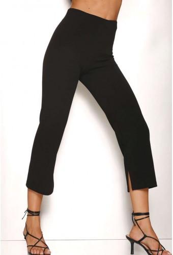 Woman's leggings with slit Rosso Porpora LR341