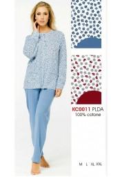 Women's cotton jersey opened pajamas Karelpiu' KC0011