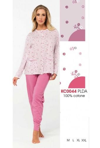 Women's cotton jersey opened pajamas Karelpiu' KC0044