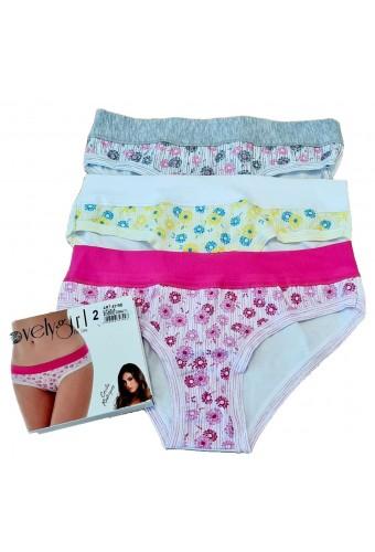 3 women's stretch cotton shorts Emy Lovely Girl 4319D