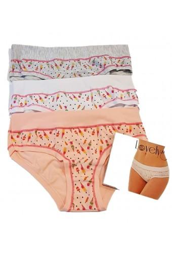 3 women's stretch cotton shorts Emy Lovely Girl 4349D