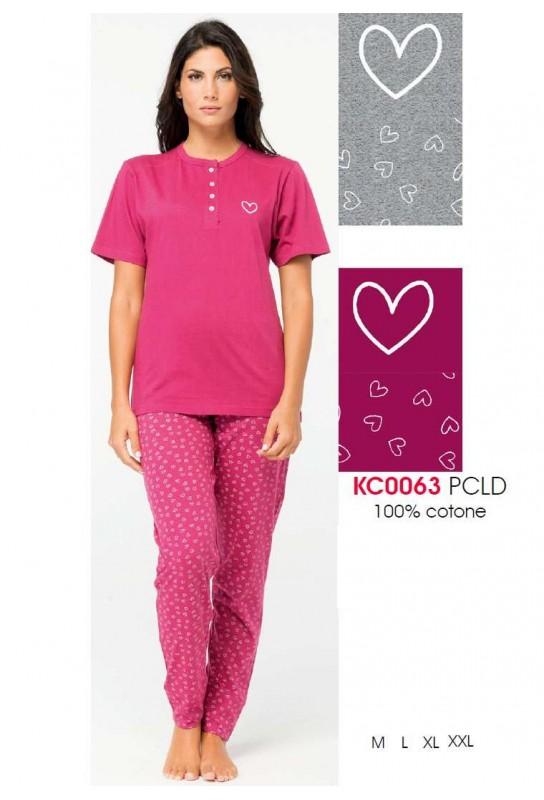 Women's cotton jersey pajamas Karelpiu' KC0063