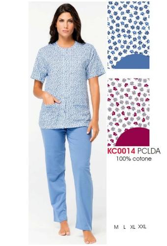 Women's cotton jersey opened pajamas Karelpiu' KC0014