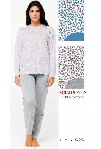 Women's cotton jersey opened pajamas Karelpiu' KC0019